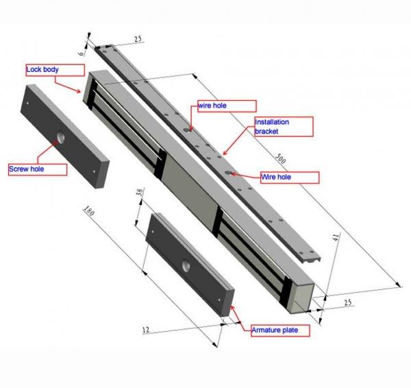280 Kg Electromagnetic Magnetic Lock Set Double Door Dhaka Desh 13000 In Bd